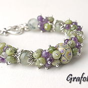 Bead bracelet handmade. Livemaster - original item Bracelet made of natural stones Watercolor. Handmade.