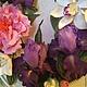 Интерьерные композиции ручной работы. Заказать Букет с ирисами и орхидеями в фоторамке. Гаяне Шахпарян. Ярмарка Мастеров. Букет из полимерной глины