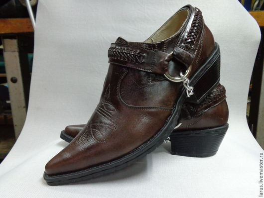 """Обувь ручной работы. Ярмарка Мастеров - ручная работа. Купить Мужские туфли """"казаки!. Handmade. Коричневый, туфли"""
