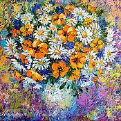 Картины и панно handmade. Livemaster - original item Painting daisies
