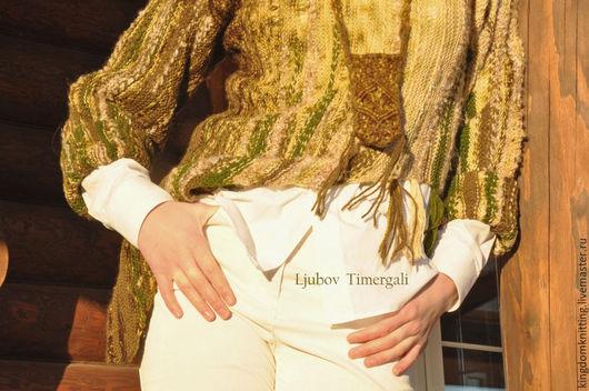 Вязаный джемпер ручной работы `Луговые травы` Handmade Хендмейд Авторская ручная работа Стильный вязаный джемпер прекрасно украсит Ваш гардероб!