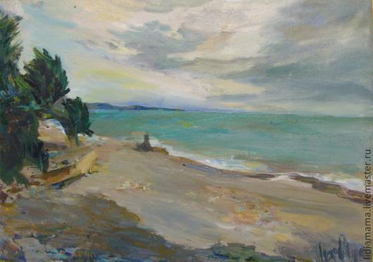 Картина. Морской пейзаж. Ветер\r\nработа Ольги Петровской-Петовраджи
