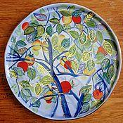Тарелки ручной работы. Ярмарка Мастеров - ручная работа Тарелка ручной работы, 28см. Handmade.