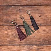 Сумки и аксессуары handmade. Livemaster - original item Keychain-brush made of genuine leather