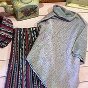 """Одежда ручной работы. Ярмарка Мастеров - ручная работа пончо - свитер """"Утренний дождь"""". Handmade."""