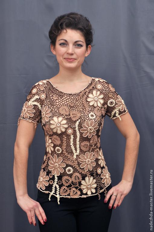 """Блузки ручной работы. Ярмарка Мастеров - ручная работа. Купить Блуза """"Волшебный Вечер"""", майка ажурная, женский топ, летняя одежда. Handmade."""
