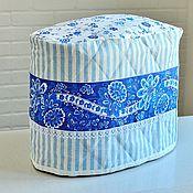 """Для дома и интерьера ручной работы. Ярмарка Мастеров - ручная работа Чехол для хлебопечки""""Кухня в стиле прованс""""голубой,синий,в полоску. Handmade."""