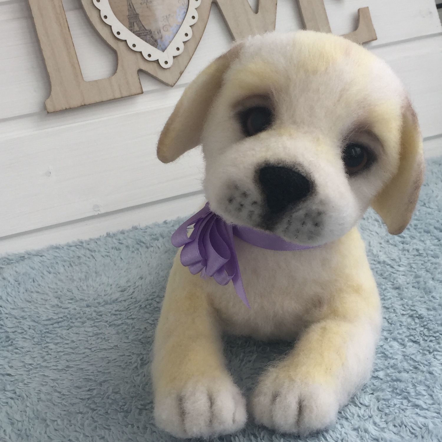 The puppy Labrador Beatrice, Stuffed Toys, Moscow,  Фото №1