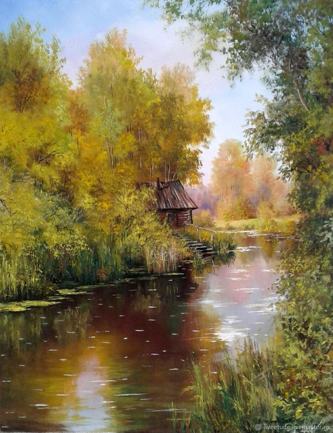 Painting landscape oil on canvas Stara Banica, Pictures, Stary Oskol,  Фото №1