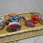 Для дома и интерьера handmade. Livemaster - original item Tray rectangular woven from willow vines. Handmade.