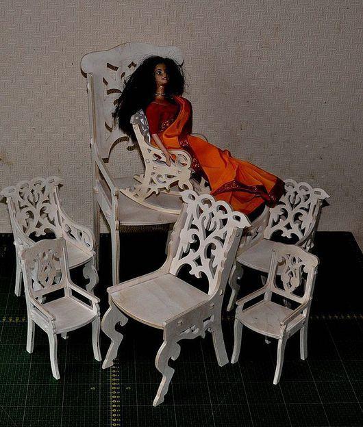 Кукольный дом ручной работы. Ярмарка Мастеров - ручная работа. Купить Стулья, кресла, качалки  резные. Handmade. Бежевый