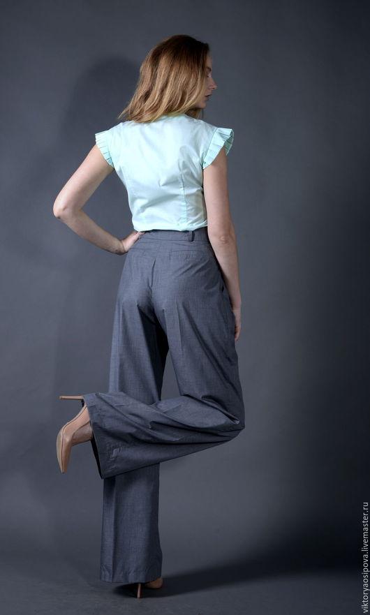 Брюки, шорты ручной работы. Ярмарка Мастеров - ручная работа. Купить Широкие брюки из тонкого хлопка. Handmade. Серый