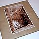 Оформление подарочной упаковки\ Фото `Зеленая Дверь (по О.Генри)` 15х20 см на металлической бумаге с обрамлением\ Бумага крафт