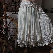 Одежда ручной работы. Ярмарка Мастеров - ручная работа Юбка Vintage look,  БОХО, кантри, прованс, юбка с кружевом. Handmade.
