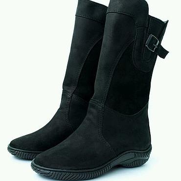 Обувь ручной работы. Ярмарка Мастеров - ручная работа Сапоги женские подошва ТЭП .(чёрные монголки). Handmade.