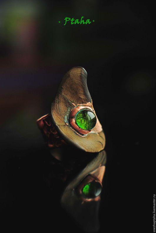 """Кольца ручной работы. Ярмарка Мастеров - ручная работа. Купить кольцо""""Капля"""". Handmade. Зеленый, подарок, медь"""