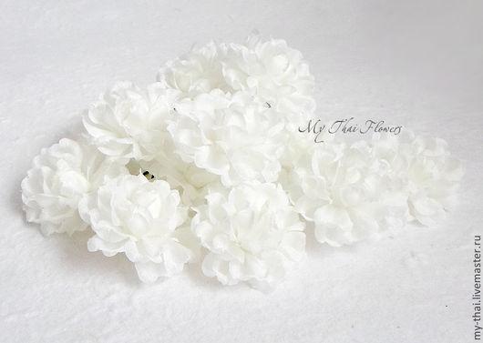 Цветки жасмина тканевые на проволоке My Thai Материалы для флористики из Таиланда