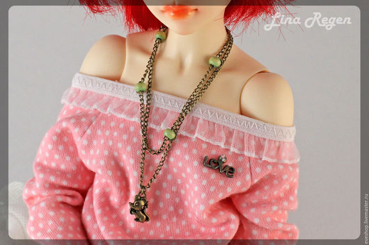 Одежда для кукол ручной работы. Ярмарка Мастеров - ручная работа. Купить Подвеска бронзовая для куклы. Handmade. Оливковый, украшения для бжд