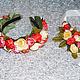 Комплект Ободок и браслет из цветов, Ободки, Москва,  Фото №1