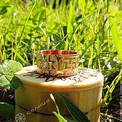 Folk decorations handmade. Livemaster - original item Ring Alatyr (wide). Handmade.