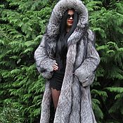 Одежда handmade. Livemaster - original item LUXURY LONG FUR COAT SAGA FURS FOX FUR M/L. Handmade.