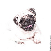 Картины и панно ручной работы. Ярмарка Мастеров - ручная работа Рисунок. Собака.. Handmade.