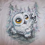 Одежда handmade. Livemaster - original item T-shirt with a painting