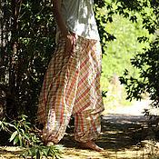 Одежда ручной работы. Ярмарка Мастеров - ручная работа Летние удобные широкие штаны. Handmade.