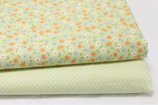 Шитье ручной работы. Ярмарка Мастеров - ручная работа. Купить Набор ткани 2 отреза. Handmade. Разноцветный, ткань