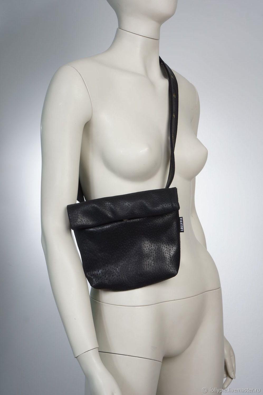 dc4fb0fefe3621c Женские сумки ручной работы. Заказать Черная кожаная сумка на пояс. Модистка  Кэт - Lollypie ...