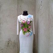 Одежда ручной работы. Ярмарка Мастеров - ручная работа платье вязаное Цветы. Handmade.
