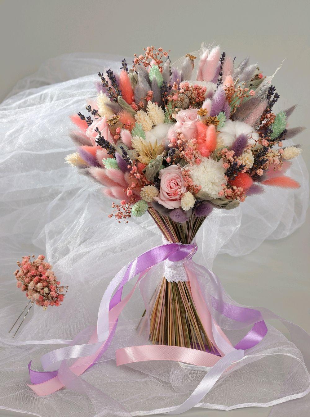 Букет из сухоцветов и стабилизированных цветов, Букеты, Москва, Фото №1