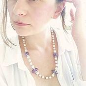 Винтаж ручной работы. Ярмарка Мастеров - ручная работа Miriam Haskell жемчужное украшение с Аметистом. Handmade.