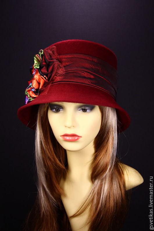 Шляпы ручной работы. Ярмарка Мастеров - ручная работа. Купить Фетровая  шляпка клош. Handmade. Шляпа, головные уборы, трилби