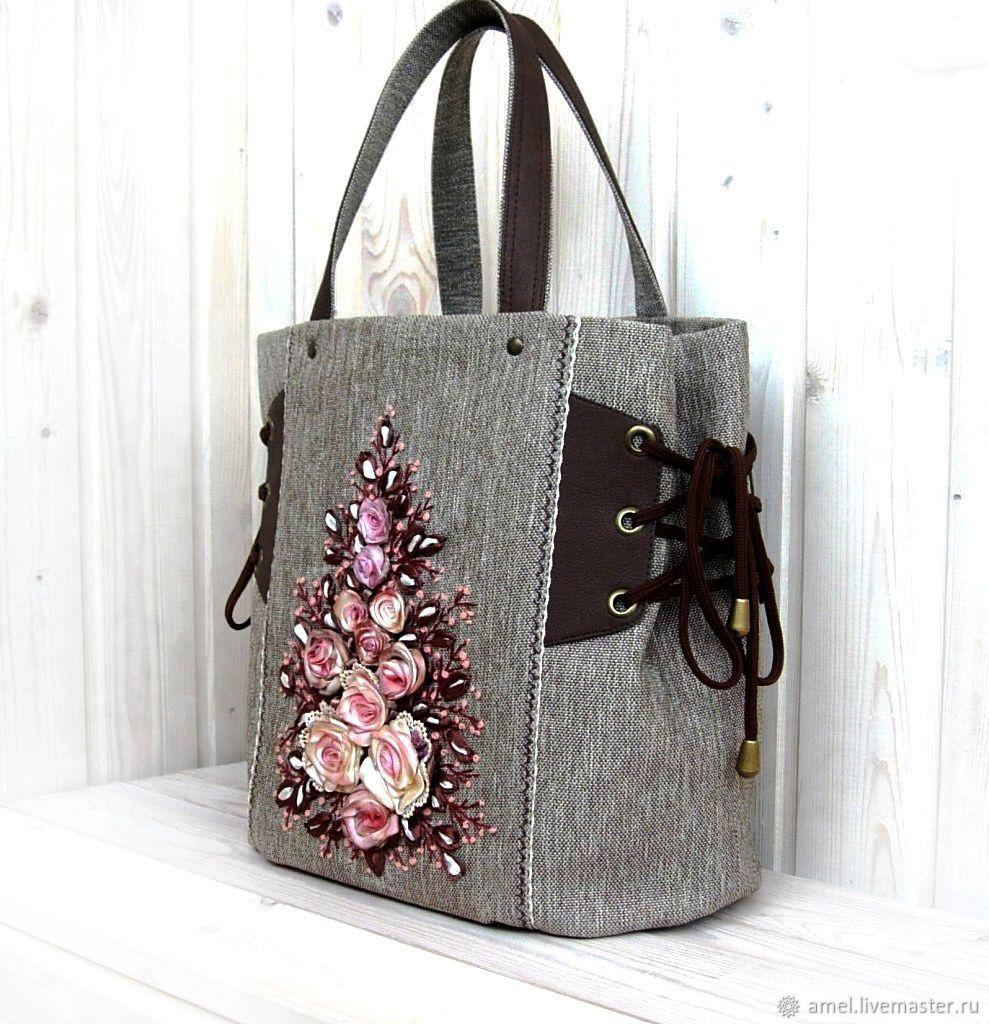 Handbags handmade. Livemaster - handmade. Buy Bag VICTORIAN ERA.Bag, embroidery ribbons, embroidered roses, lace
