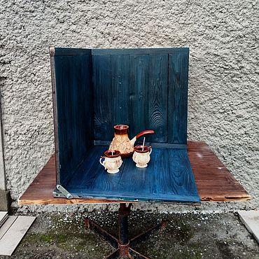 """Материалы для творчества ручной работы. Ярмарка Мастеров - ручная работа Фотофон угловой """"Старая ель - темное дерево"""". Handmade."""