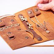 Для дома и интерьера handmade. Livemaster - original item Organizer for jewelry leather