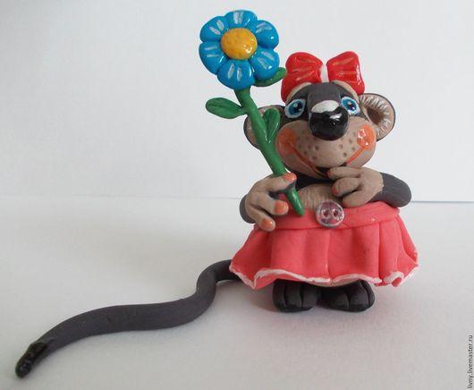 Сказочные персонажи ручной работы. Влюблённая Мышка. Игрушка авторская. Интерьерная игрушка.. Natali & ﻱНатусикиﻱ. Ярмарка Мастеров. Пластика
