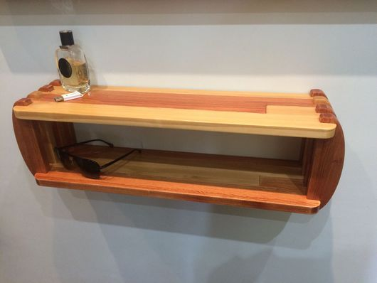 Мебель ручной работы. Ярмарка Мастеров - ручная работа. Купить Полка навесная. Handmade. Полка из дерева, кухня, масло