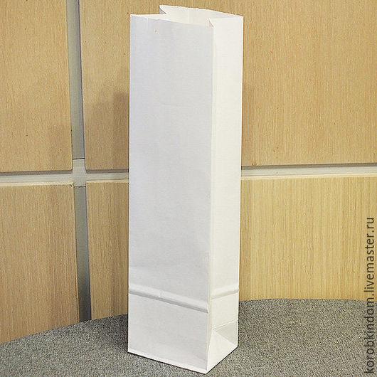Упаковка ручной работы. Ярмарка Мастеров - ручная работа. Купить Пакет 9х33х6,5 крафт белый без ручек. Handmade.