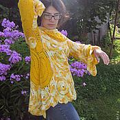 """Одежда ручной работы. Ярмарка Мастеров - ручная работа вязаный джемпер """"Одуванчиковое лето"""". Handmade."""