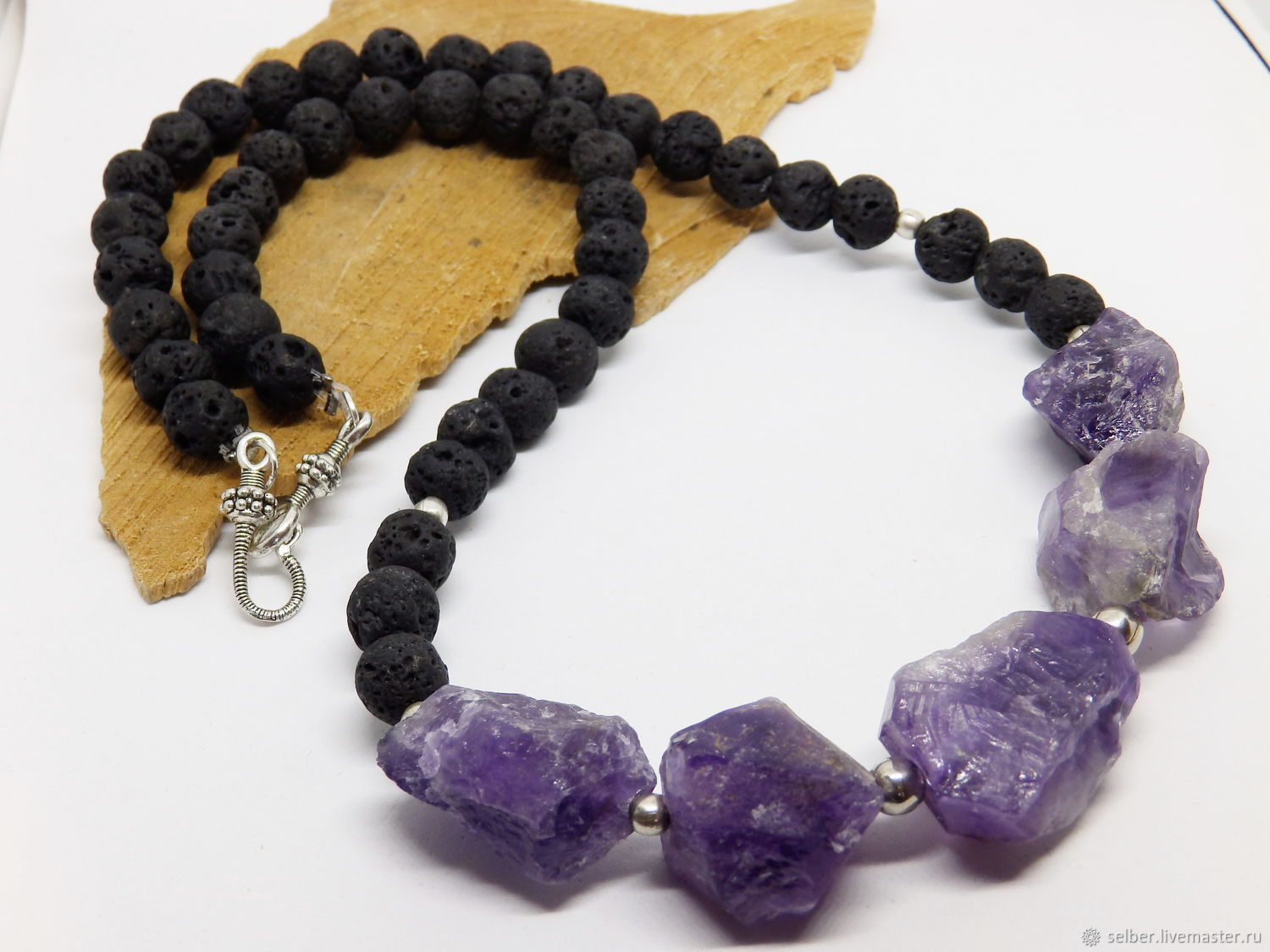 Long beads with amethyst Billor 64 cm, Beads2, Gatchina,  Фото №1