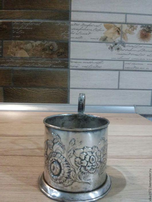 Винтажная посуда. Ярмарка Мастеров - ручная работа. Купить мельхиоровый подстаканник Мстера 1953-1957гг. Handmade. Серебряный
