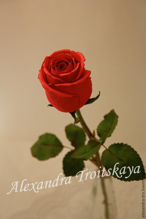 Бокаловидная роза мастер класс