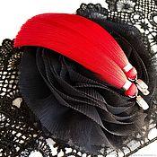 Украшения handmade. Livemaster - original item Earrings tassels red scarlet bright red. Handmade.