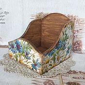 """Для дома и интерьера ручной работы. Ярмарка Мастеров - ручная работа Короб для специй """"Полевые цветы"""". Handmade."""