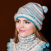 Аксессуары handmade. Livemaster - original item Knitted hat. Knitted hat with pompom. Handmade.