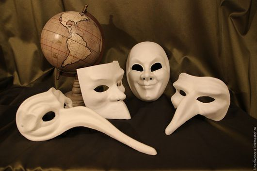 Карнавальные костюмы ручной работы. Ярмарка Мастеров - ручная работа. Купить Маска венецианская заготовка из папье-маше. Handmade.