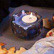 Пиалы ручной работы. Ярмарка Мастеров - ручная работа Пиала маленькая керамическая Звёздная ночь. Handmade.