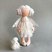 Куклы и пупсы ручной работы. Ярмарка Мастеров - ручная работа Ангел и мальтезе Текстильная кукла ручной работы. Handmade.